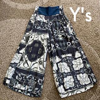 Yohji Yamamoto - ヨウジヤマモト Y's タケシコサカ パンツ 柄 ガウチョ ワイドパンツ レア