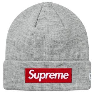 シュプリーム(Supreme)の18AW Supreme ボックス ロゴ ビーニー ニット帽 グレー(ニット帽/ビーニー)
