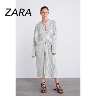 ZARA - ZARA☆ストライプワンピース