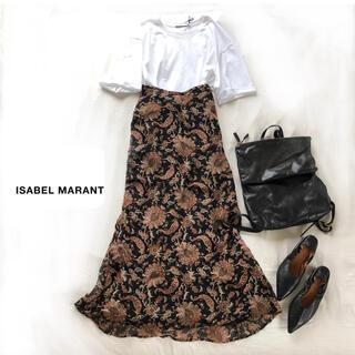 イザベルマラン(Isabel Marant)の美品 イザベルマラン シルク100 ペイズリープリント ロングスカート(ロングスカート)