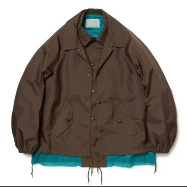 kolor 20ss コーチジャケット ブラウン メンズのジャケット/アウター(ナイロンジャケット)の商品写真