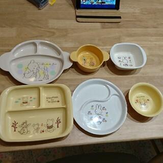 クマノプーサン(くまのプーさん)のプレートなど6枚セット(プレート/茶碗)