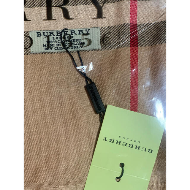 BURBERRY(バーバリー)のバーバリー・カシミヤ100%薄手マフラー・ストール・スカーフ大判サイズ レディースのファッション小物(マフラー/ショール)の商品写真