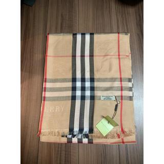 BURBERRY - バーバリー・カシミヤ100%薄手マフラー・ストール・スカーフ大判サイズ