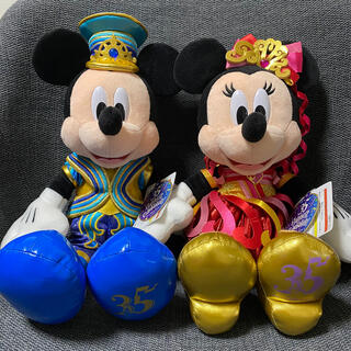 ディズニー(Disney)のミッキーミニー 35周年限定 ぬいぐるみ(キャラクターグッズ)