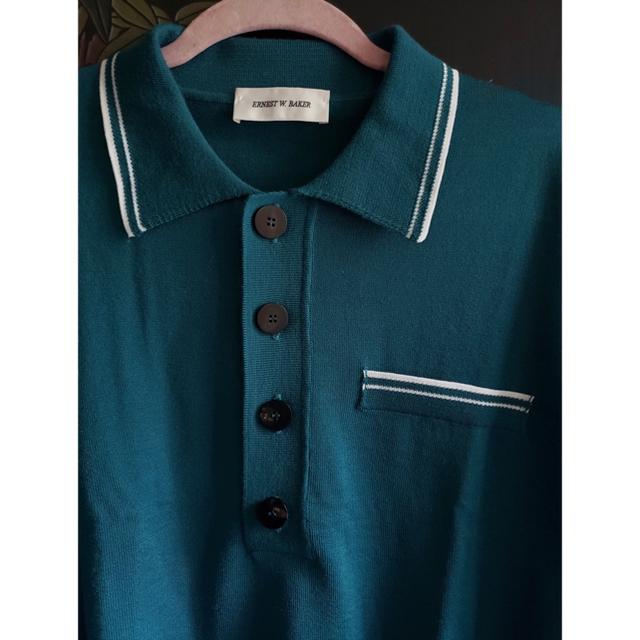 JOHN LAWRENCE SULLIVAN(ジョンローレンスサリバン)のERNEST W BAKER アーネスト ニットポロ ポロシャツ 長袖 ニット メンズのトップス(シャツ)の商品写真