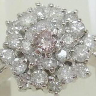 ピンクダイヤ0.117ct ダイヤモンド0.84ct(リング(指輪))