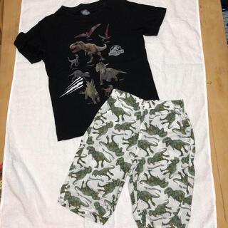 GU - 110 Tシャツ リラコ  ジュラシックワールド  恐竜 ダイナソー