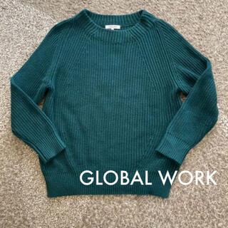 GLOBAL WORK - ニット セーター グローバル ワーク GLOBAL WORK グリーン 緑