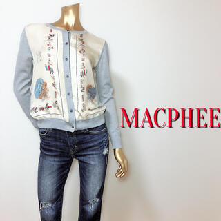 MACPHEE - おしゃれすぎ♪マカフィー シルクデザインカーディガン♡ドゥロワーフレイアイディー