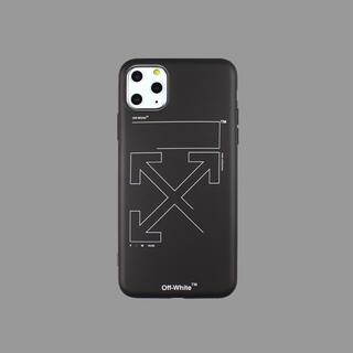 OFF-WHITE - お洒落なデザイン  オフホワイト  iPhoneケース 11pro max用