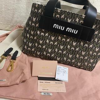 miumiu - MIUMIU  ジャカード ハンドバッグ