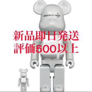 MEDICOM TOY - BE@RBRICK ベアブリック WHITE CHROME 400%/100%