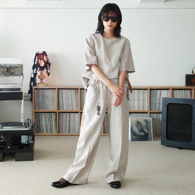 SUNSEA(サンシー)のSUNSEA LINEN PANTS size2 メンズのパンツ(スラックス)の商品写真