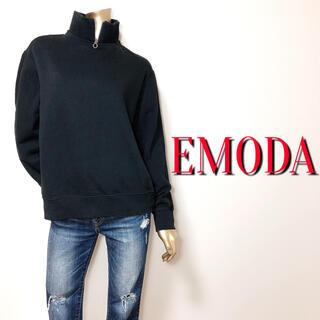 EMODA - シンプル♪エモダ ネックジッププルオーバー♡リゼクシー ムルーア ザラ