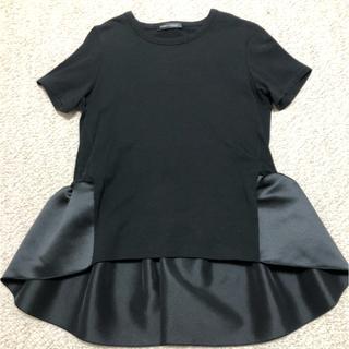 BARNEYS NEW YORK - ヨーコチャン 半袖 バックフリル カットソー 36サイズ Tシャツ 黒色