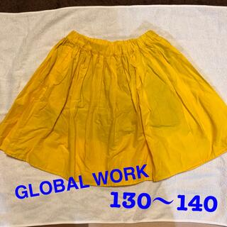 GLOBAL WORK - グローバルワーク フレアスカート イエロー 130 140