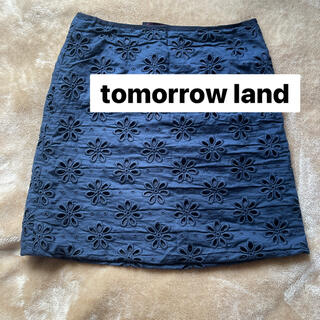 トゥモローランド(TOMORROWLAND)のtomorrow land レディースミニスカート タイト M 春夏 ネイビー(ミニスカート)