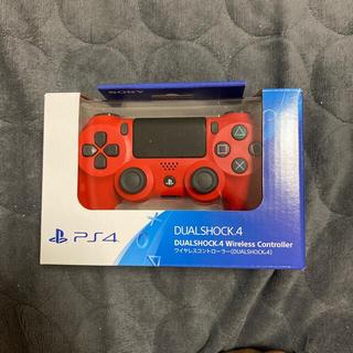 プレイステーション4(PlayStation4)のDUALSHOCK4 wireless contriller Magma Red(その他)
