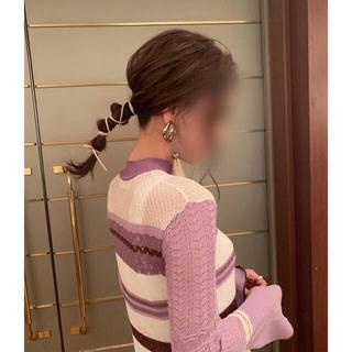 mame - Mame Lame Purple Knit Dress
