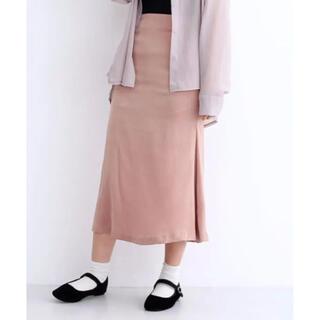 メルロー(merlot)のmerlot サテンマーメイドラインスカート  ピンク(ロングスカート)