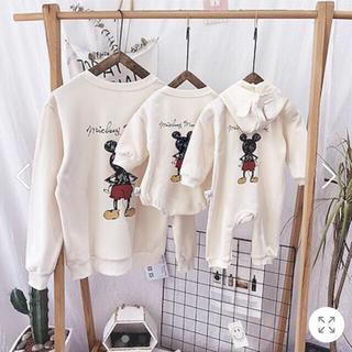 ディズニー(Disney)のミッキー ペアルック(カップル、親子) (Tシャツ/カットソー)