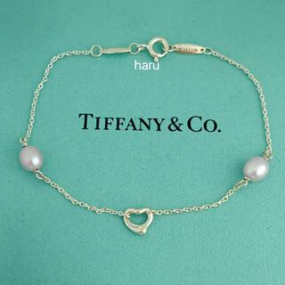 Tiffany & Co. - TIFFANY&Co. ティファニーパールバイザヤードオープンハートブレスレット