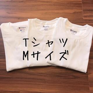 Champion - 【訳あり】champion チャンピオン メンズ 半袖 Tシャツ 洋服 白T M