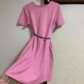 ザラ(ZARA)のZara pink dress(ミディアムドレス)