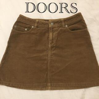 ドアーズ(DOORS / URBAN RESEARCH)の【アウトドアに】DOORS コーデュロイ スカート(ミニスカート)