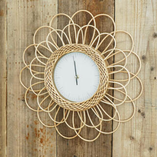 Francfranc - ラタン フラワー 時計 新品未開封