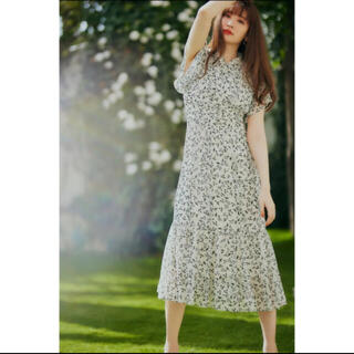 snidel - Her lip to muguet printed romantic dress