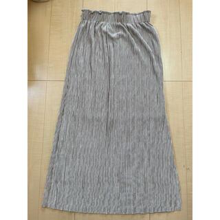 dholic - サテンプリーツスカート