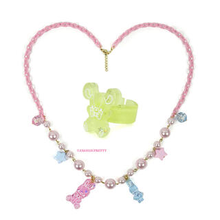 Angelic Pretty - Jelly Candy Toysネックレス リング 2点セット