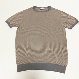 シップス(SHIPS)のSHIPS Made in Italy: リブ ボーダー ニットTシャツ(Tシャツ/カットソー(半袖/袖なし))