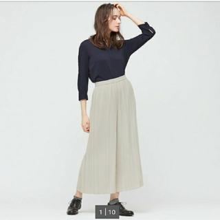 UNIQLO - UNIQLO シフォンプリーツスカートパンツ(標準丈)