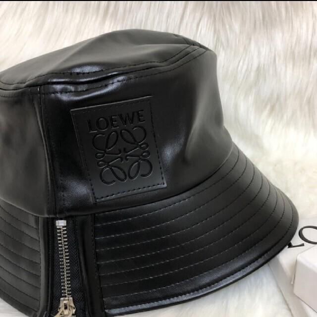 新品 レザーバケットハット 帽子 レディースの帽子(ハット)の商品写真