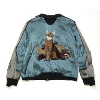 UNDERCOVER - R304-4) 名作 アンダーカバー 11aw 猫刺繍 スカジャン size:3