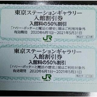 ジェイアール(JR)の東京ステーションギャラリー入館割引券☆2枚(美術館/博物館)
