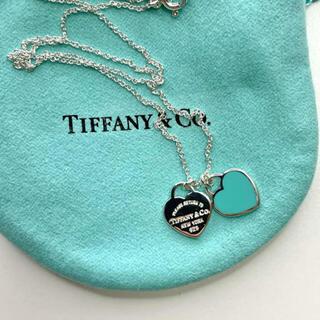 Tiffany & Co. - 早い者勝ち‼︎ Tiffany ダブルハートタグペンダント