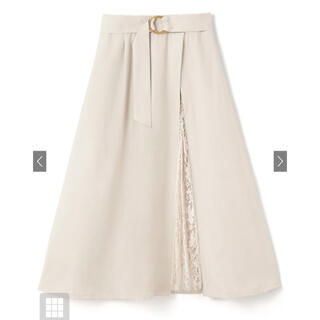 GRL - GRL グレイル ベルト付き花柄レースプリーツ切り替えスカート