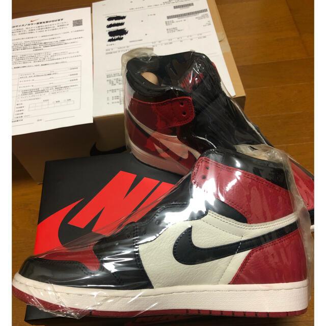 NIKE(ナイキ)のNIKE AIR JORDAN1 HIGH OG BRED TOEブレッドトゥ メンズの靴/シューズ(スニーカー)の商品写真