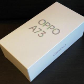 オッポ(OPPO)の【新品未開封】OPPO A73 ネービーブルー(スマートフォン本体)