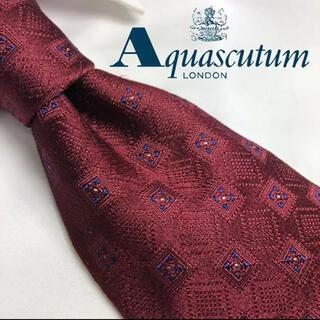 アクアスキュータム(AQUA SCUTUM)の[クリーニング済み!]Aquascutam! 肉厚 人気カラー シルク100%(ネクタイ)