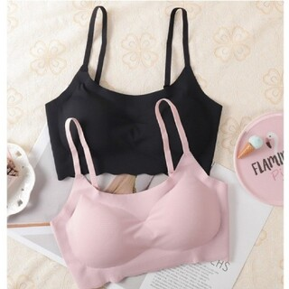 値下げ中 Lサイズ 2点Set ■ピンク ブラック シームレスブラ(ヨガ)