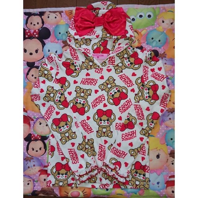 EARTHMAGIC(アースマジック)の7・おすわり ロンT♡140 キッズ/ベビー/マタニティのキッズ服女の子用(90cm~)(Tシャツ/カットソー)の商品写真
