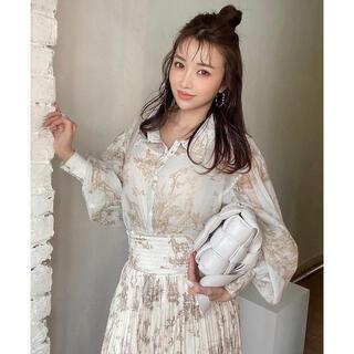 eimy istoire - 完売新作 Eimy istoire Hailey pattern シアーシャツ