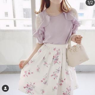 evelyn - アンミール 花柄スカート ホワイト