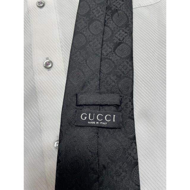 Gucci(グッチ)のグッチ ネクタイ【未使用に近い】ペイズリー柄 光沢 厚手 メンズのファッション小物(ネクタイ)の商品写真