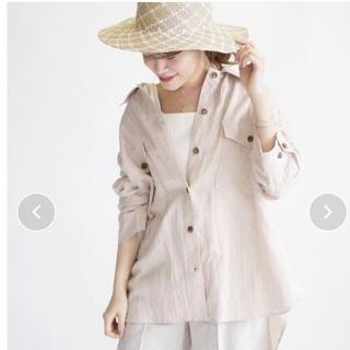 シップス(SHIPS)の新品未使用品リネンビッグシャツジャケット ベージュ One size (シャツ/ブラウス(長袖/七分))